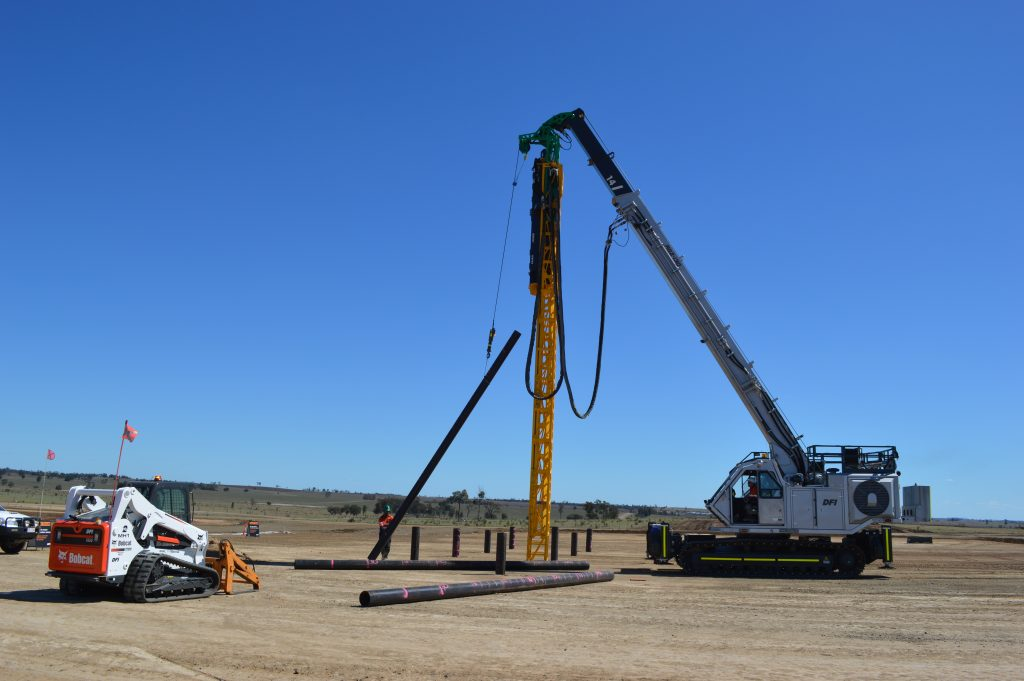 STEEL DRIVEN PILES ALLOW FOR FAST TURNAROUND